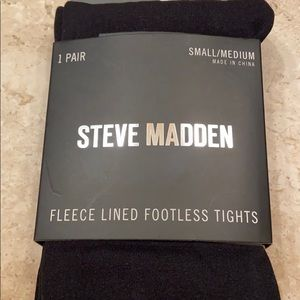 STEVE MADDEN Fleece Lined Footless Tights